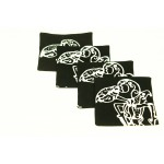 Wayang Kulit Coaster Set of 4pcs.