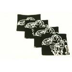 Wayang Kulit Coaster Set of 4pcs.