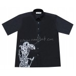 Wayang Kulit Men's Cotton Short Sleeve